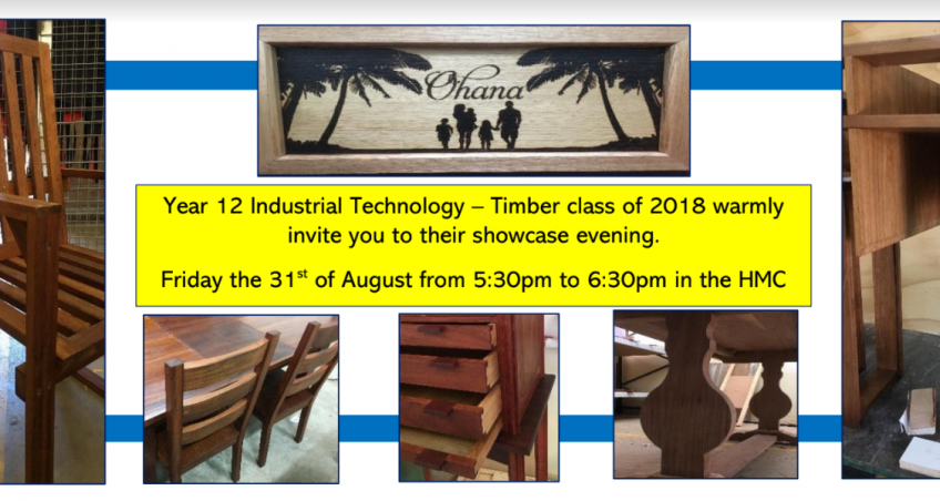 Year 12 Industrial Technology Showcase Evening