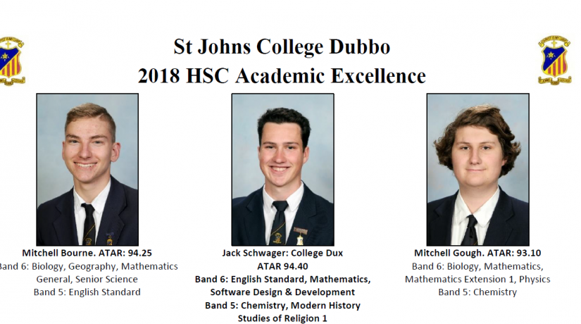 2018 Hsc Academic Excellence St Johns College