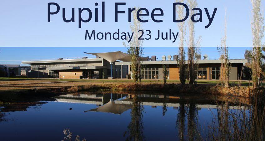 Pupil Free Day – 23/07/2018